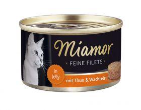 Miamor Fine Filets tonnikala & viiriäisenmuna 100g - 24 purkkia
