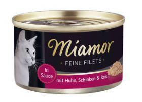 Miamor Fine Filets kana & kinkku 100g - 24 purkkia