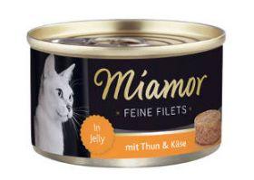 Miamor Fine Filets tonnikala & juusto 100g - 24 purkkia