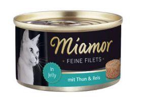 Miamor Fine Filets tonnikala & riisi 100g - 24 purkkia