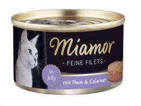 Miamor Fine Filets tonnikala & mustekala 100g - 24 purkkia