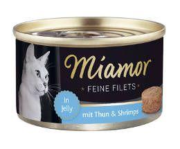 Miamor Fine Filets tonnikala & katkarapu 100g - 24 purkkia