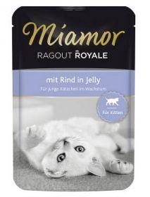 Miamor Ragout Royale Kitten Nauta 100g Jelly - 22 pussia