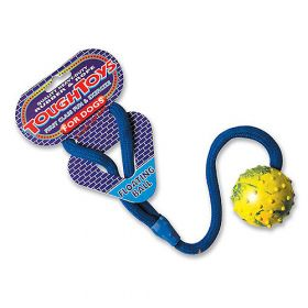 Happy Pet Tough Toy täyskumipallo köydellä, kelluva, 5 cm - 4 kpl
