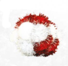 Joulu Tinsel PomPom pallo kissalle n. 8cm