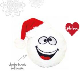 Joulu pehmolelu lumipallo 24x12 cm