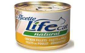 LifeCat Le Ricette Natural kananfile 150g - 24 kpl
