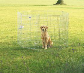 Savic koiran metallinen pentuaitaus 61 x 107 cm, 8 osaa