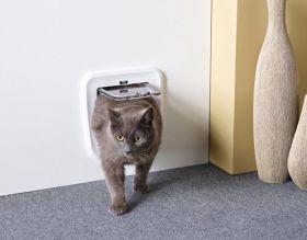 Savic Classic kissanluukku oveen 24 x 25 cm valkoinen
