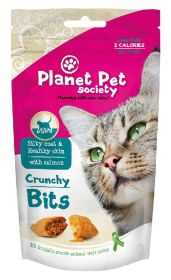 Planet Pet Crunchy Bits, Silky Coat & Healthy Skin - Rapea makupala kissalle, 40 g