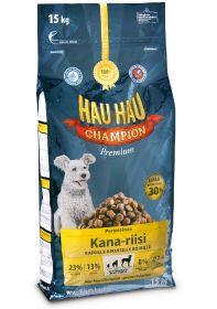 HauHau Champion Kana-riisi aikuisille koirille 15 kg