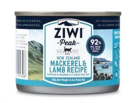 ZiwiPeak Uuden-Seelannin makrilli & lammas 185 g - 6 kpl