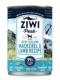 ZiwiPeak Uuden-Seelannin makrilli & lammas 390 g - 6 purkkia