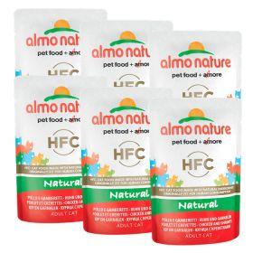 Almo Nature HFC Natural Kana & katkarapu, 6 x 55g