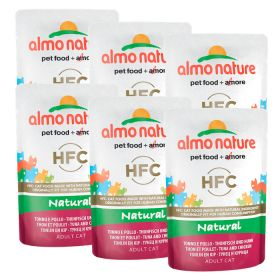 Almo Nature HFC Natural Tonnikala & kana, 6 x 55g