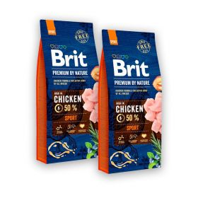 2 x 15 kg Brit Premium by Nature Sport, aktiiviset koirat