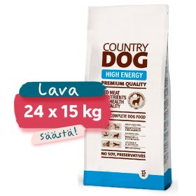 Lava Country Dog Premium High Energy, 24 x 15 kg