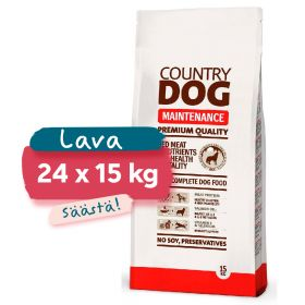 Lava Country Dog Premium Maintenance, 24 x 15 kg