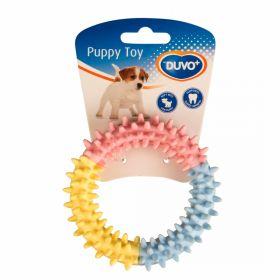 Duvo+ Koiranpennun kumilelu Rengas nystyillä, 11 cm