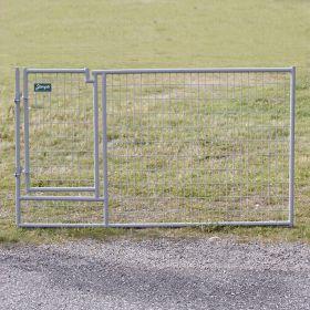 Jämpti Pro MINI ovielementti 200 x 115 cm, vaaleanharmaa