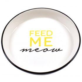 Duvo+ Keraaminen kissankuppi FEED ME meow