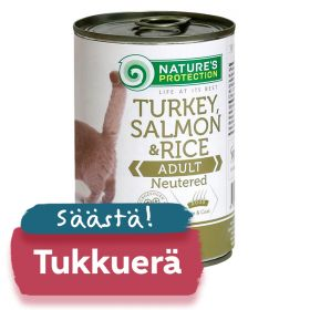TUKKUERÄ Nature's Protection Cat Neutered, säilyke 6 x 400g