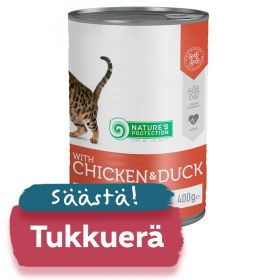 TUKKUERÄ Nature's Protection Cat Sterilised, säilyke 6 x 400g