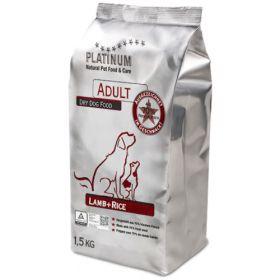 Platinum Adult Lammas + Riisi, 1,5 kg