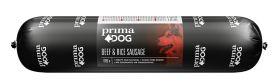 PrimaDog Beef & Rice Nauta-riisi -makkara, 800 g