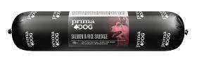 PrimaDog Salmon & Rice Lohi-riisi -makkara, 800 g