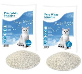 Pure White Sensitive Pacific Breeze -kissanhiekka, 13 kg x 2
