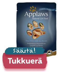 Applaws kissa tonnikala & ahven 70g - 12 pussia