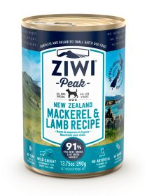 ZiwiPeak Säilyke Dog New Zealand Mackerel & Lamb, 390g